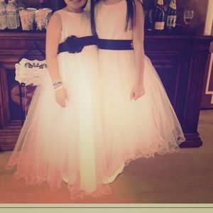 Girl satin and tulle dress